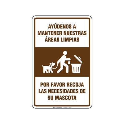 Rótulo - MANTENER AREAS LIMPIAS (MASCOTAS)