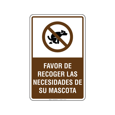 Rótulo - RECOGER LAS NECESIDADES DE SU MASCOTA