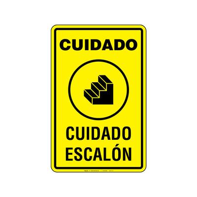 Rótulo Aviso - CUIDADO ESCALON