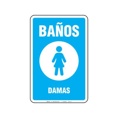 Rótulo - BAÑOS DAMAS