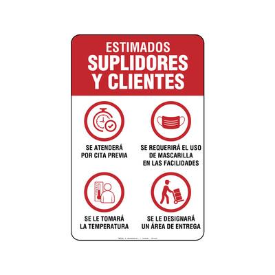 Rótulo - ENTRADA PARA CLIENTES Y SUPLIDORES