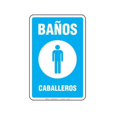 Rótulo - BAÑOS CABALLEROS