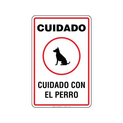 Rótulo - CUIDADO CON EL PERRO