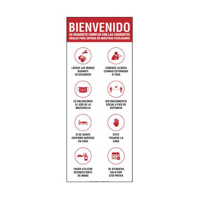 Banner - BIENVENIDO SE ATENDERA POR CITA PREVIA REGLAS PARA ENTRAR