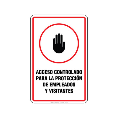 Rótulo - ACCESO CONTROLADO