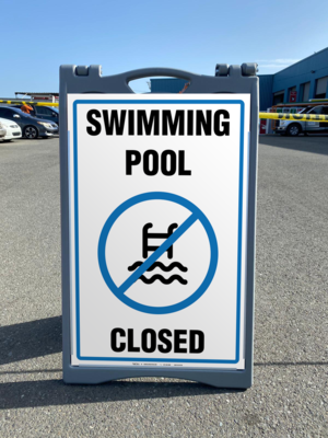 A-FRAME - SWIMMING POOL CLOSED