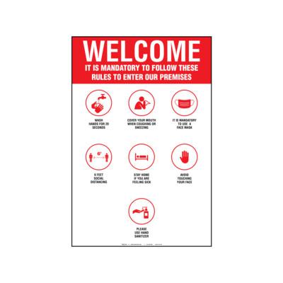 A-FRAME WELCOME MANDATORY RULES (INGLÉS)
