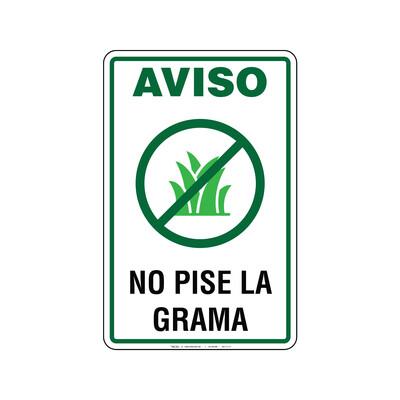 Rótulo - NO PISE LA GRAMA