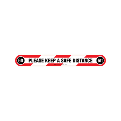 GRÁFICOS DE PISO - PLEASE KEEP A SAFE DISTANCE (INGLÉS)