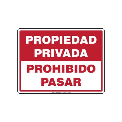 Rótulo - PROPIEDAD PRIVADA PROHIBIDO PASAR
