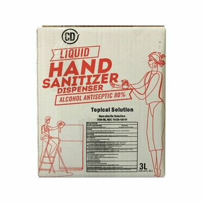 CAJA DE 3 LITROS DE HAND SANITIZER (MARCA CD)