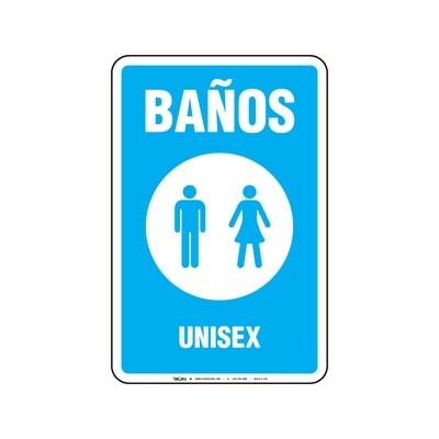 Rótulo - Baños Unisex