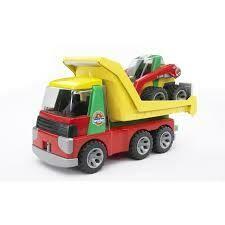 BRUDER; Roadmax Transporter With Skid Teer Loader