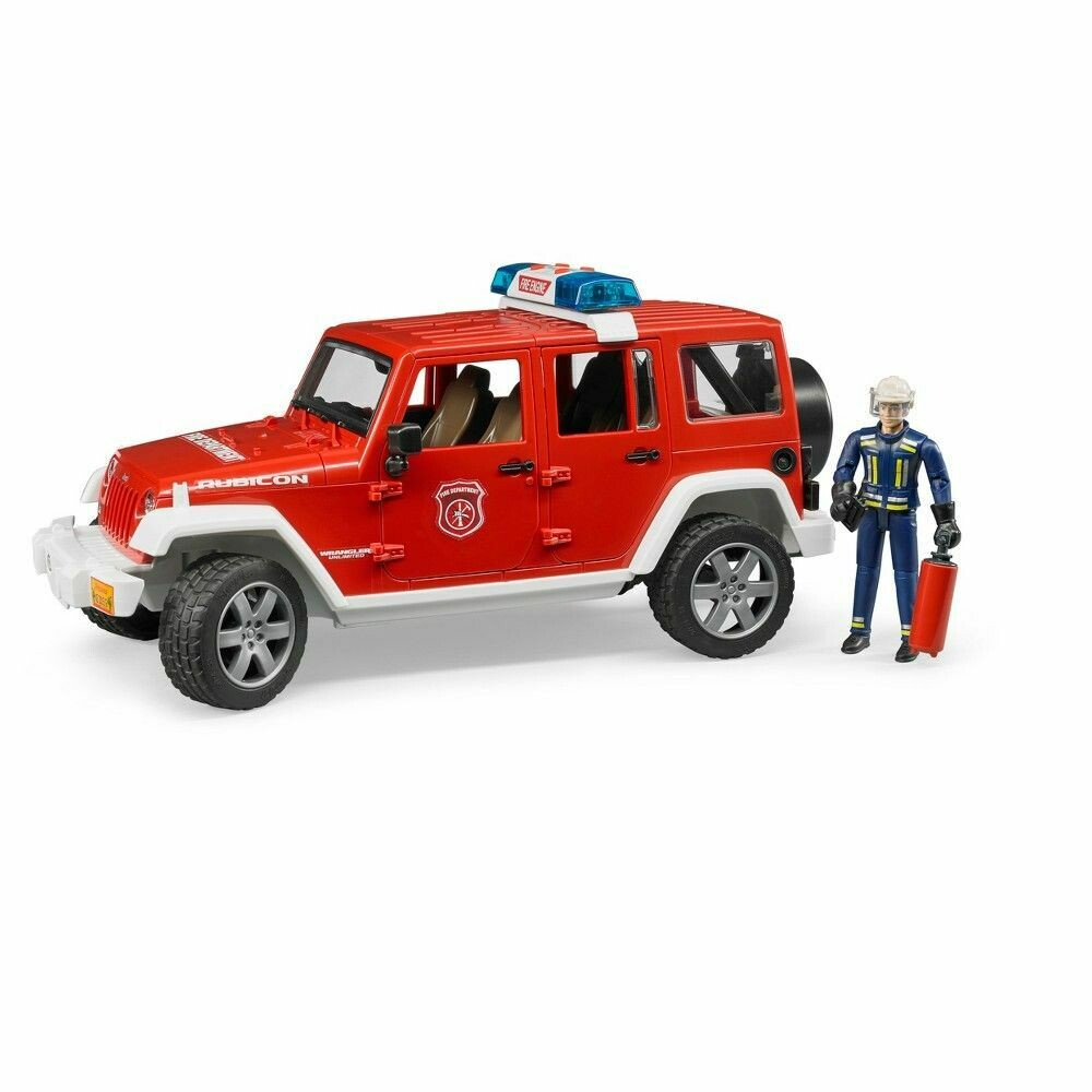 BRUDER; Jeep Rubicon Fire Vehicle W Fireman