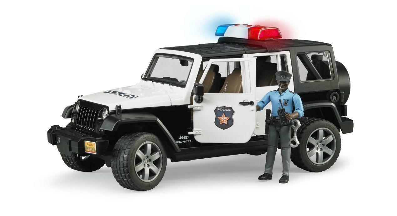 BRUDER; Jeep Rubicon Police Car + Policeman