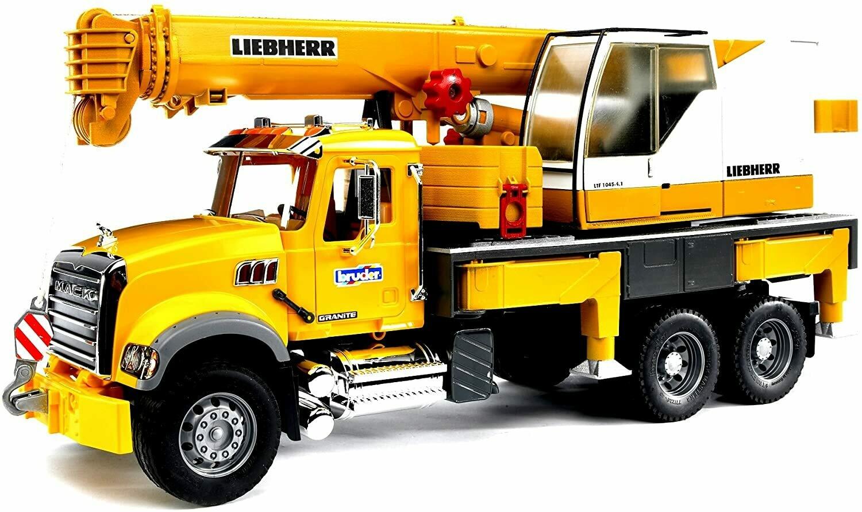 BRUDER; Mack Granite Liebherr Crane Truck