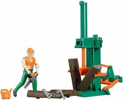BRUDER; Bworld Logging Set With Man