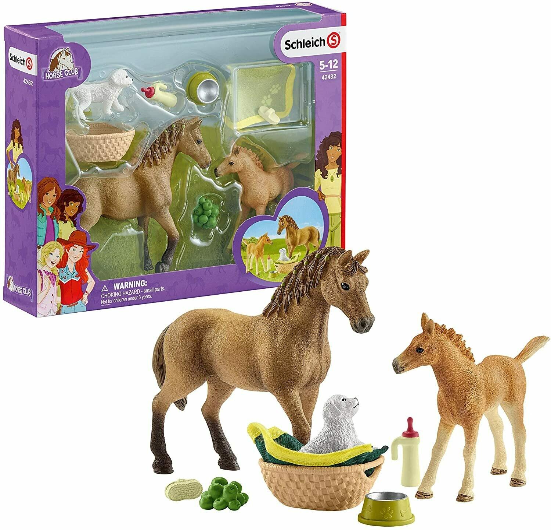 Schleich: Horse Club - Baby Animal Care W/Quarter Horse