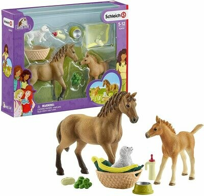 Schleich: Horse Club - Baby Animal Care W/Quarter Horse
