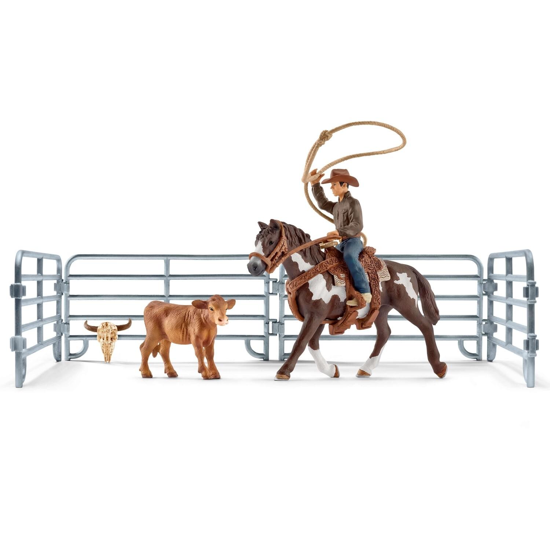 Schleich: Farm World - Team Roping with  Cowboy
