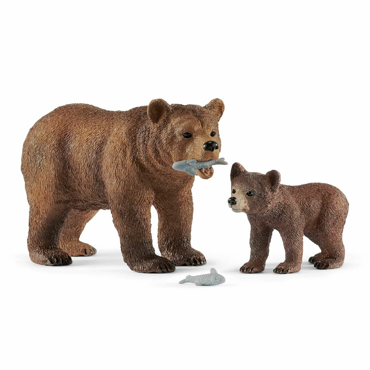 Schleich: Wild Life - Grizzly Bear Mother With Cub