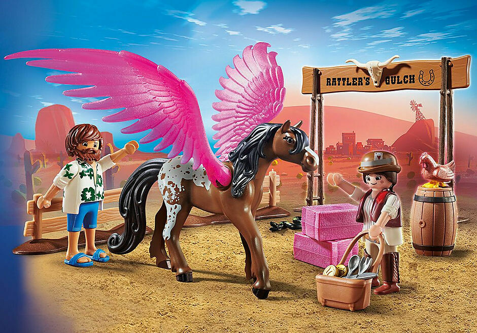 Playmobil; The Movie: Marla and Del with Flying Horse