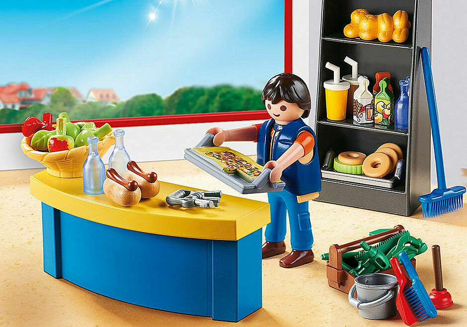 Playmobil; School Caretaker With Kiosk