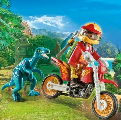 Playmobil: Motocross Bike With Raptor