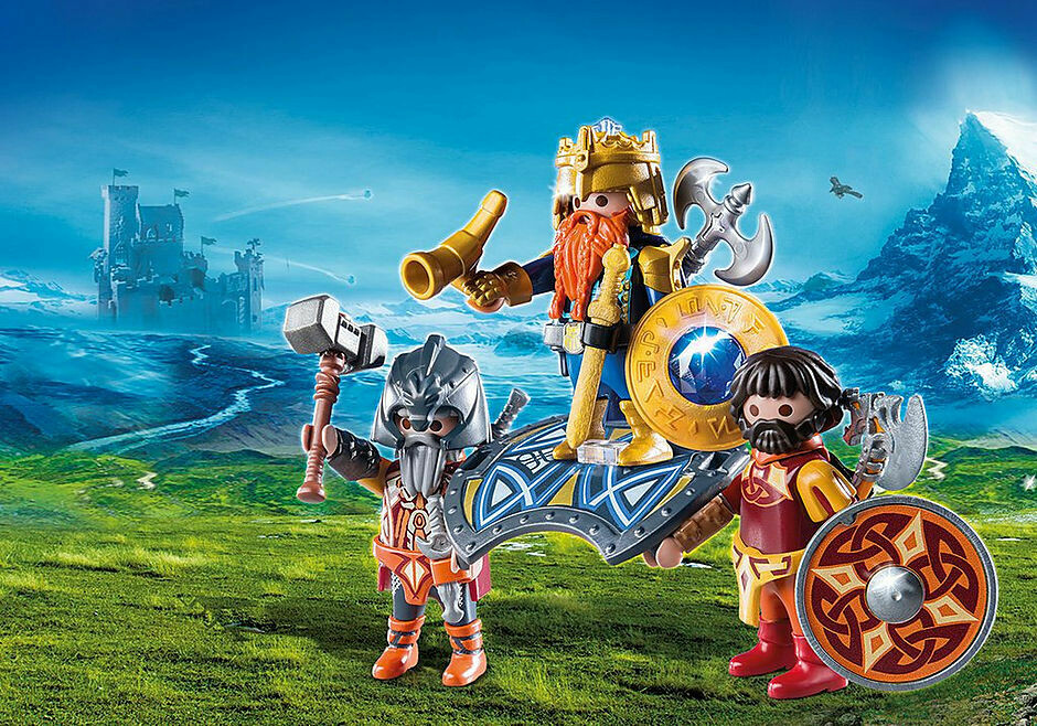 Playmobil; Dwarf King With Guards