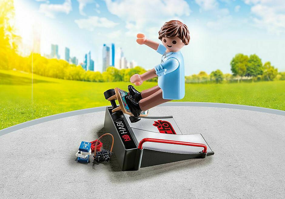 Playmobil; Skateboarder And Ramp
