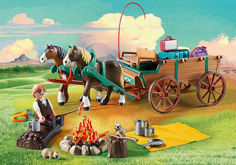 Playmobil; Spirit Riding Lucky's Dad and Wagon