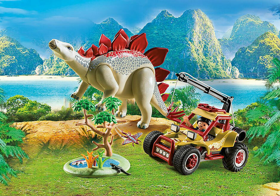 Playmobil; Explorers Vehicle With Stegosaurus