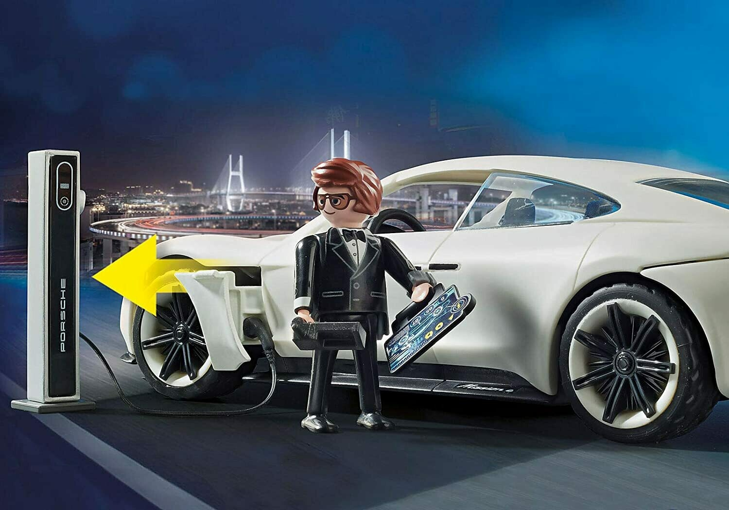 Playmobil; Playmobil: The Movie Rex Dasher's Porsche Mission E
