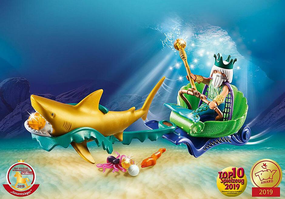 Playmobil; King of the Sea with Shark Carriage