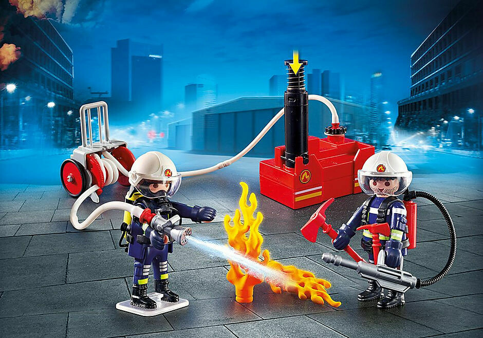 Playmobil; Firefighters With Water Pump