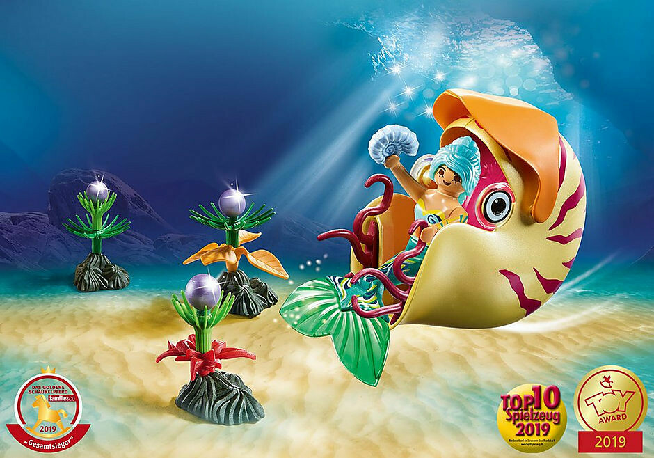 Playmobil; Mermaid with Sea Snail Gondola