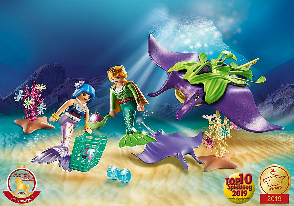 Playmobil; Pearl Collectors with Manta Ray