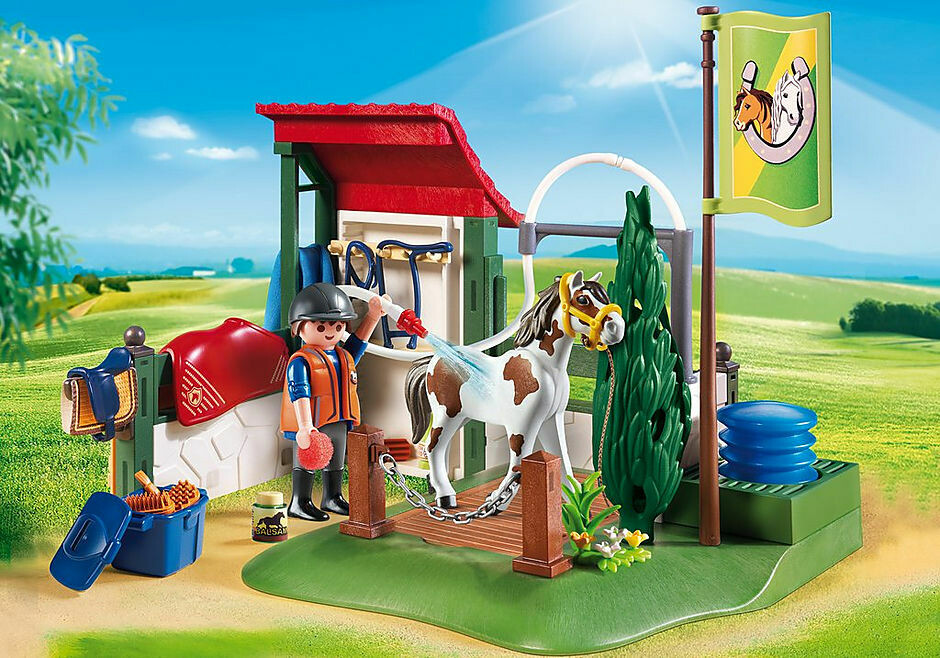 Playmobil; Horse Grooming Station