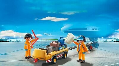 Playmobil; Aircraft Tug With Ground Crew (Discontinued)