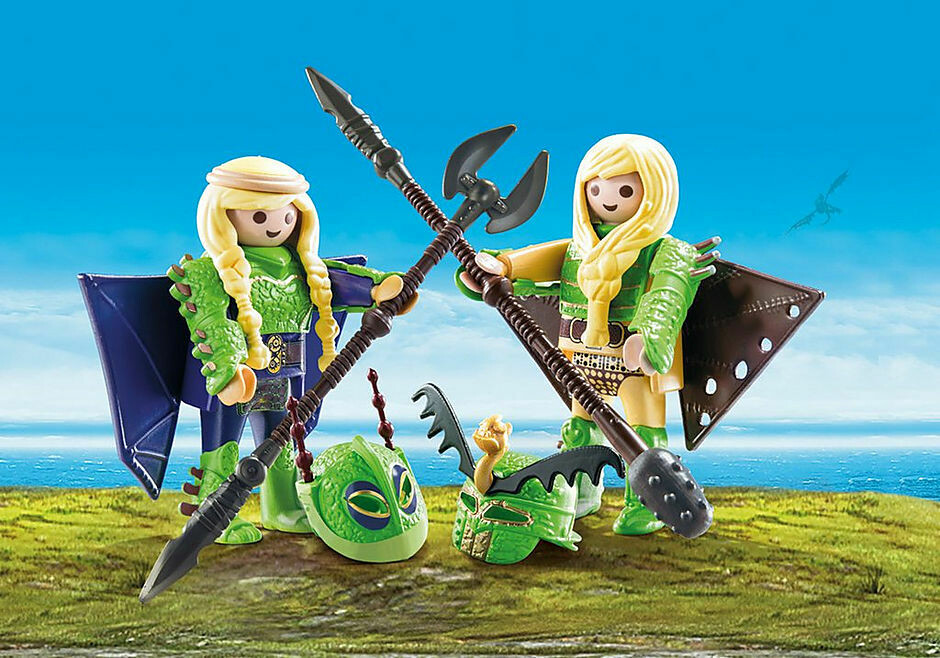 Playmobil; Ruffnut And Tuffnut With Flight Suit