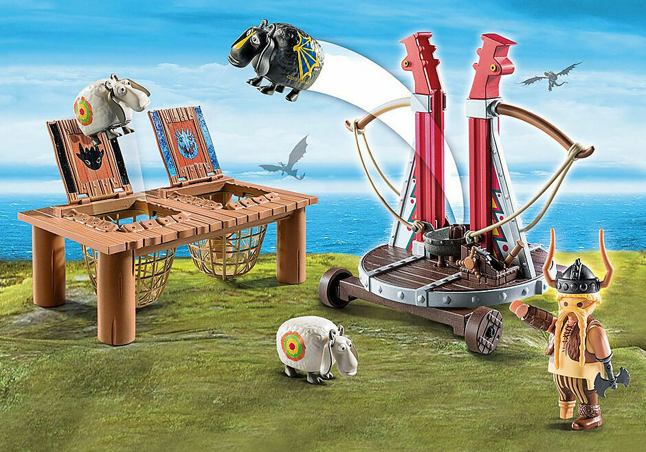 Playmobil; Gobber And Belch With Sheep Sling