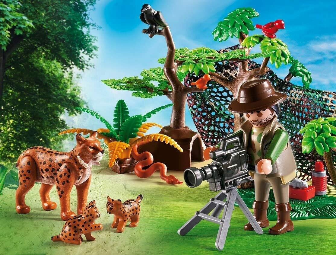 Playmobil; Lynx Family With Cameraman