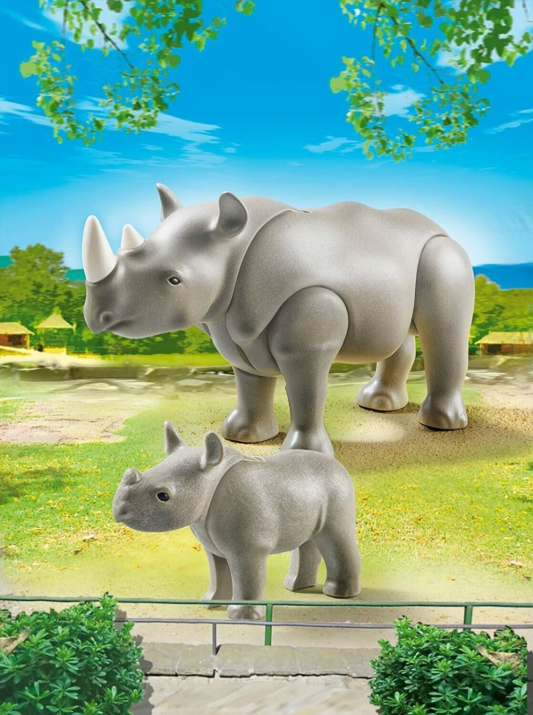 Playmobil; Rhino And Babies