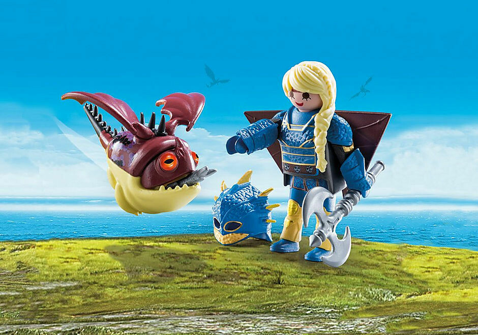 Playmobil; Astrid with flight suit and Hobgobbler