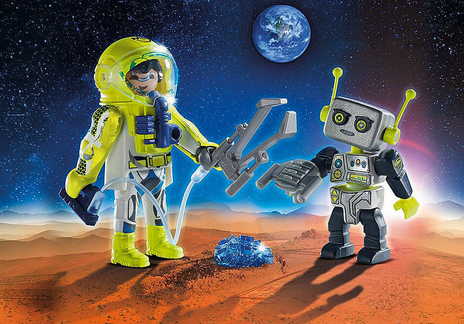 Playmobil; Astronaut And Robot Duo Pack