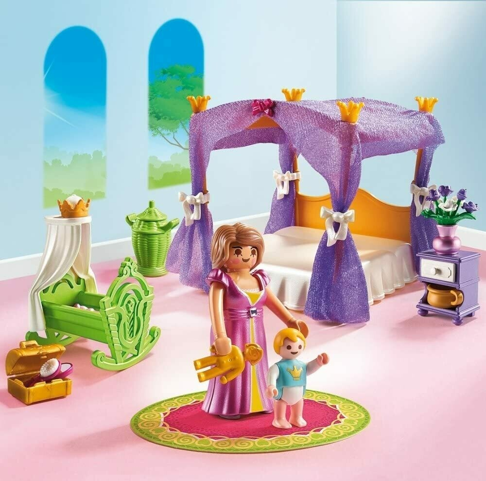 Playmobil; Royal Bed Chamber With Cradle