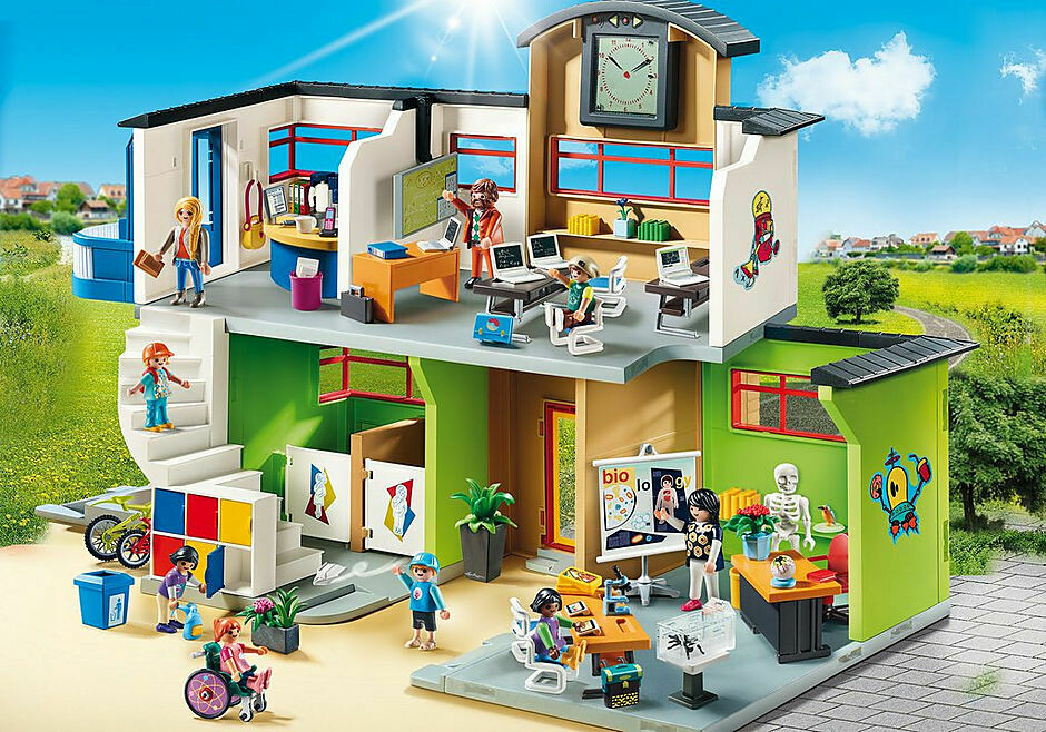Playmobil; Furnished School Building