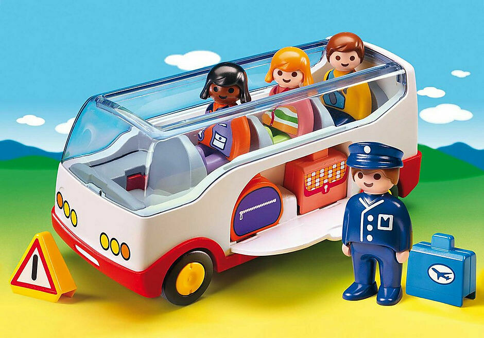 Playmobil; 1.2.3 Airport Shuttle Bus