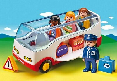 Playmobil; 1.2.3 Airport Shuttle Bus