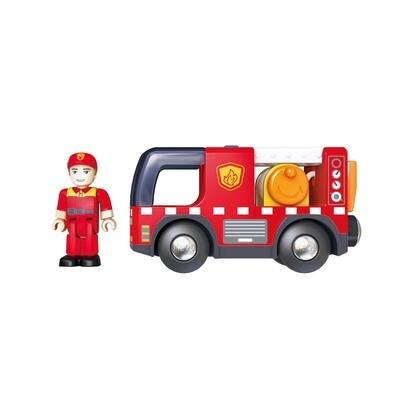 Hape; Fire Truck with Siren